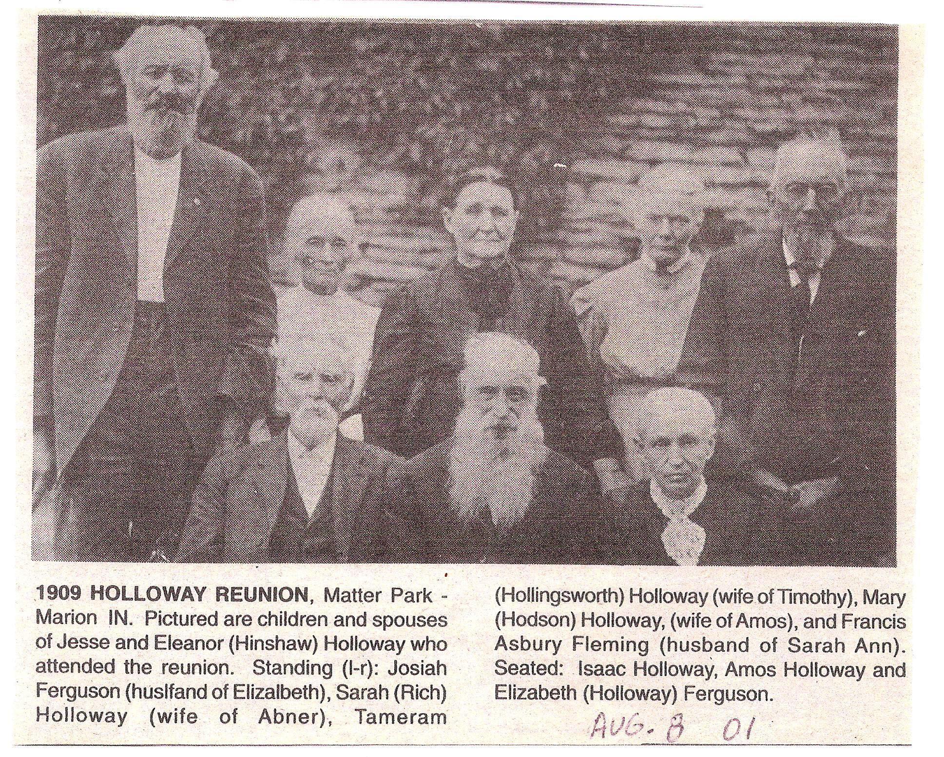 1909 Holloway Reunion