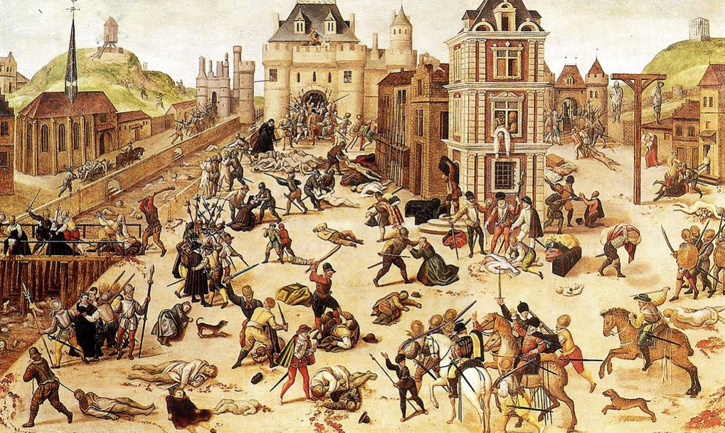 Artist Francois Dubois depicts the St Bartholomew's Day Massacre of 1572