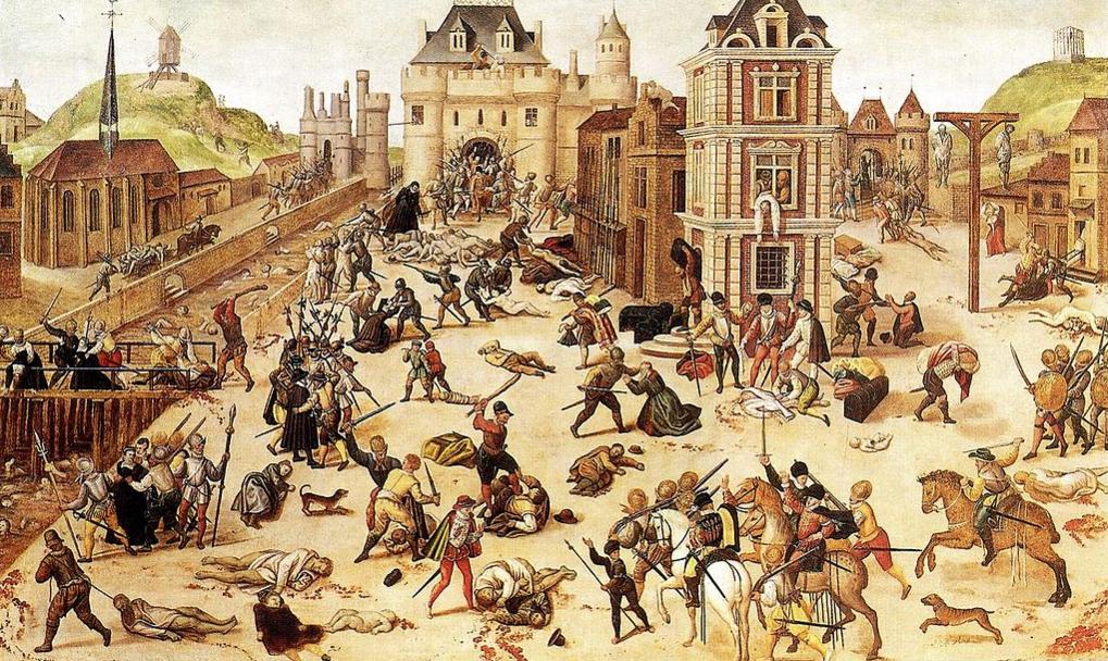 Artist Francois Dubois depicts the St Bartholomew's Day Massacre of 1572