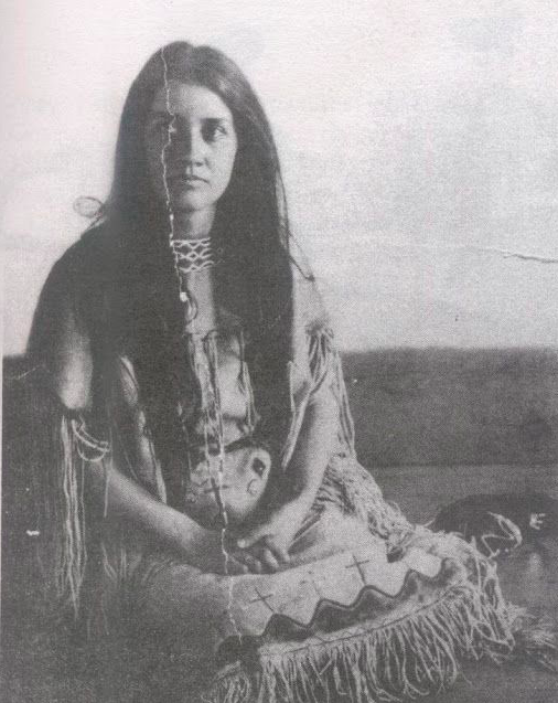 Photo credit: Archives.com, 1907, Norma Earl Smiser. Archives.com offers useful tips for researching Native American Genealogy. (N.B. this is not Agnes, the Cherokee Indian of Nelson family legend.)