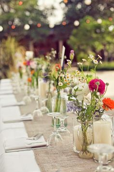linens, flowers