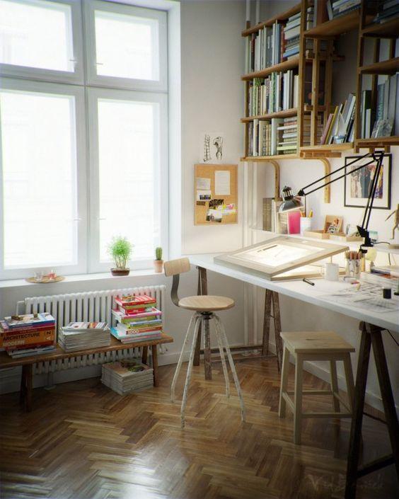 desk&shelves