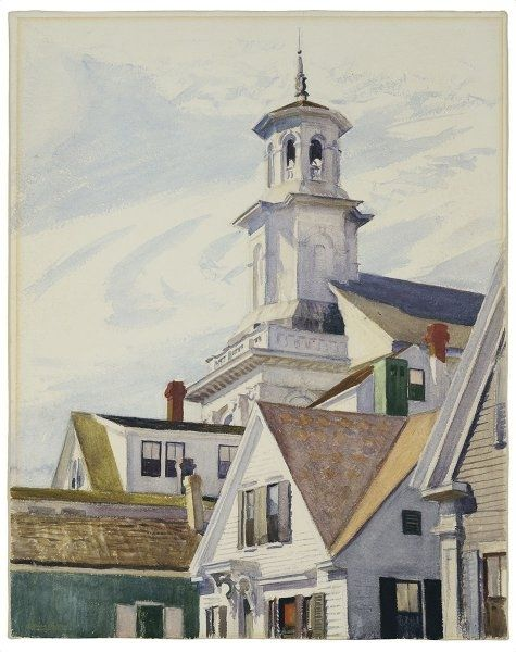 edward hopper cape cod church