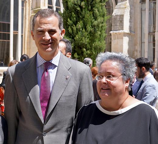 Maria De Alvear con Rey Felipe VI de España