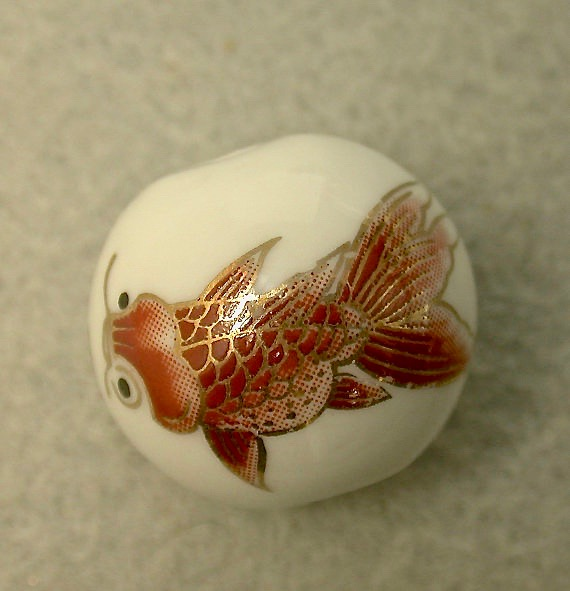 Vintage Chinese Porcelain Bead