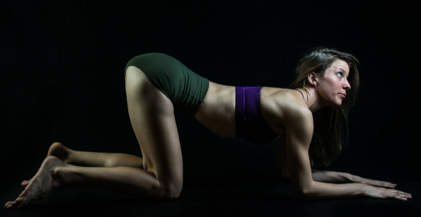 The Frog Pose is an excellent position for women to receive analingus / Photo by Antony James