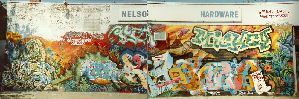 Queens NYC, 1994.   Klass - Smith - Erni- Daze - Lady Pink - Mickey - IzTheWiz