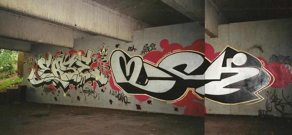 Amsterdam 2001.   José Parlá  aka Ease TFP - Mickey.
