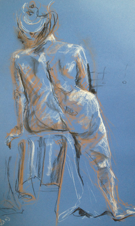 Life drawing day session with David Crawford