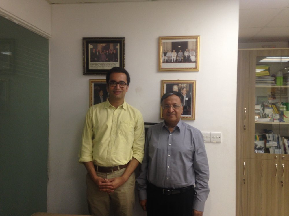 Rishi with Dipal Barua, CEO of Bright Green Energy Foundation.