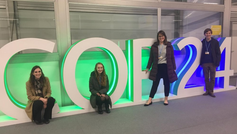 The Tufts University delegation at the COP24.
