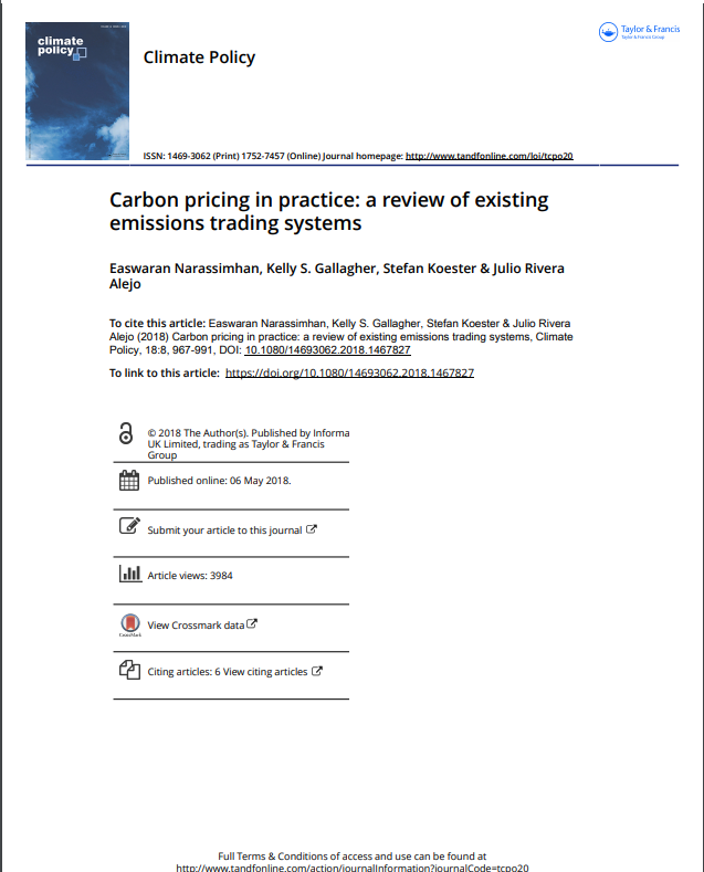 Carbon pricing in practice: a review of existing emissions trading systems