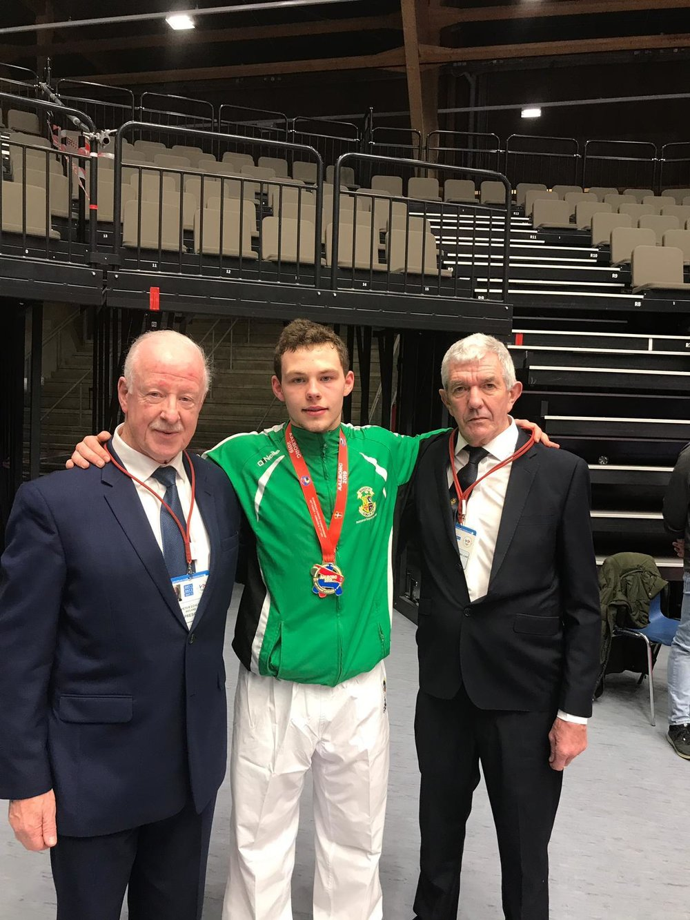Chris with the President of Irish Karate and national coach Derek