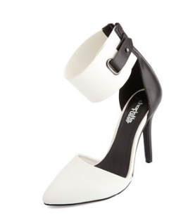 White Ankle Cuff pumps