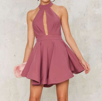 Shanghai Cut Out Dress-Pink