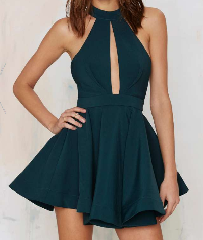 Shanghai Cut Out Dress - Green