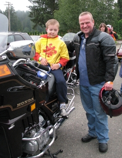 Brandon at the Ride 4 Kids Fundraiser – he participated in this event every year.