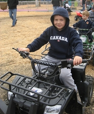 Brandon enjoying at ATV.