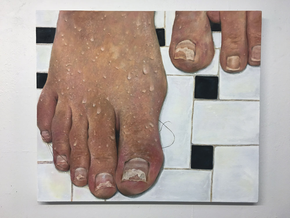 "Chipped, 2017, 24""x 28"", Oil on canvas"