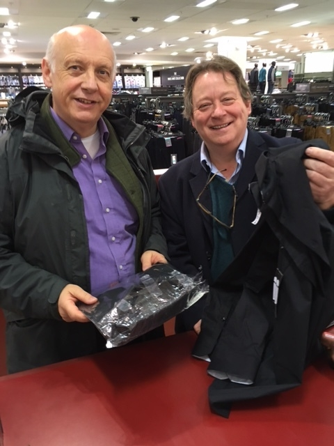 Yet another black shirt.  The author with  Andrew Marriner