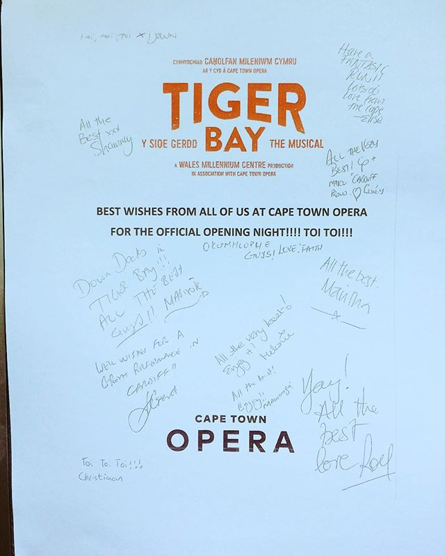 Thank you! Diolch! @capetown_opera @thecentre_yganolfan