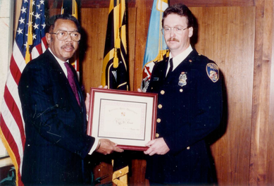 Mr. Grant as an officer with the Baltimore Police Department.