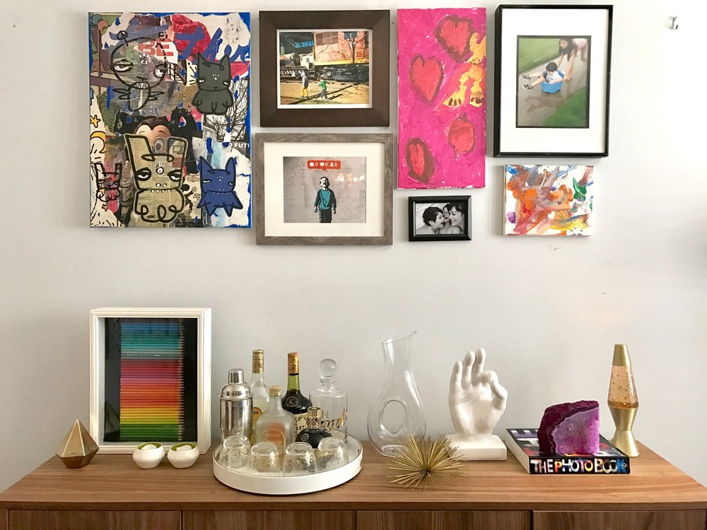 Picture gallery with children's artwork