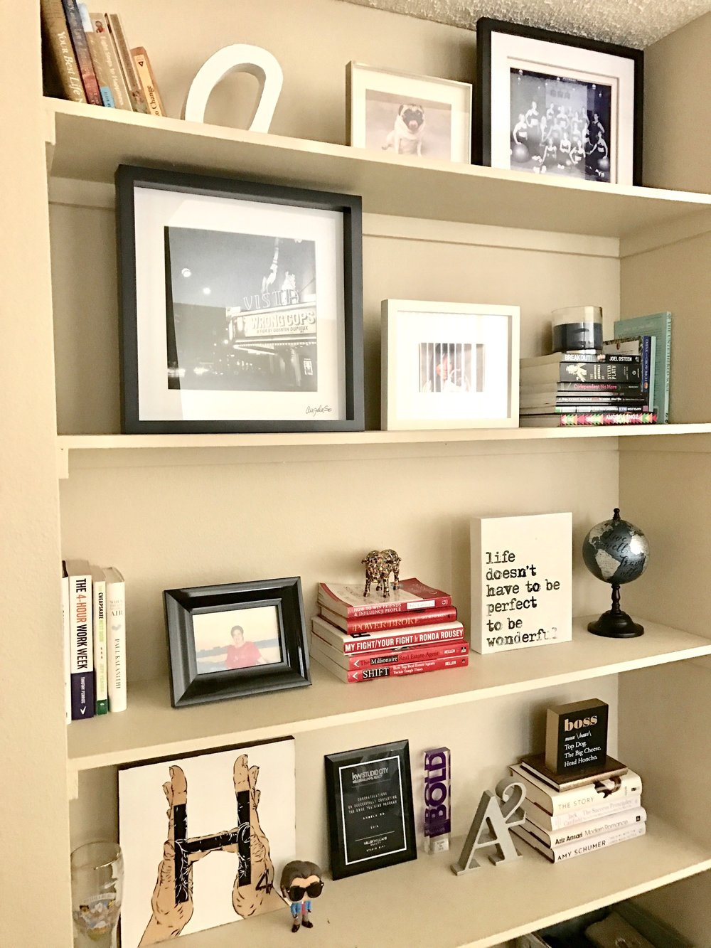Restyled book shelves