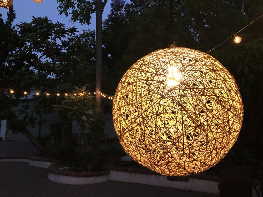DIY Twine Globe Lantern