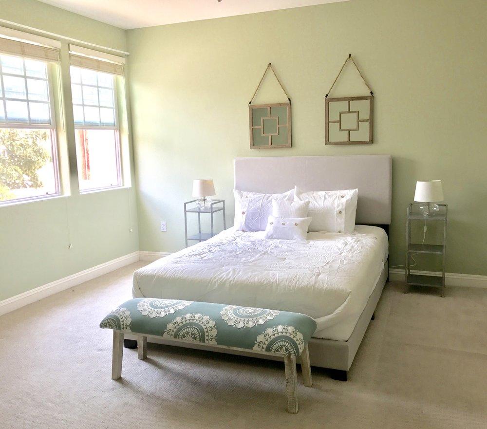 Burbank bedroom, After Staging