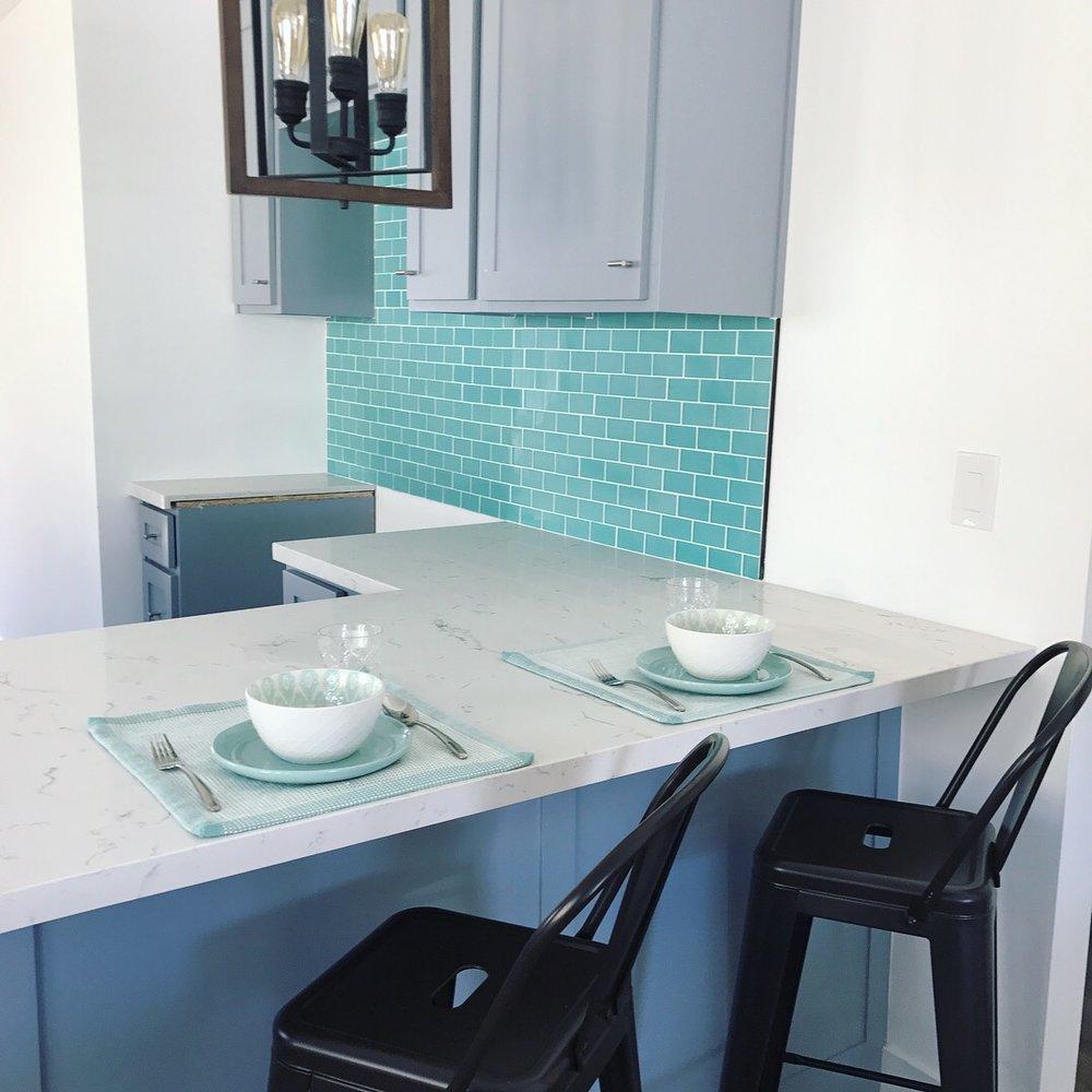 Styled kitchen island