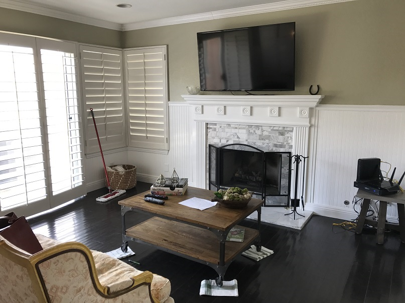 Before Styled Family Room
