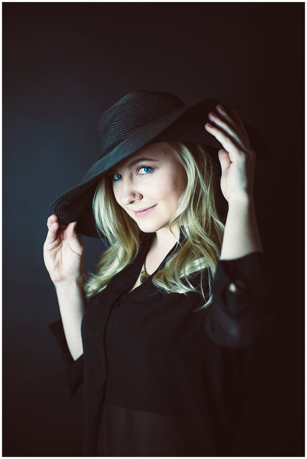 Black hat- fashion photoshoot