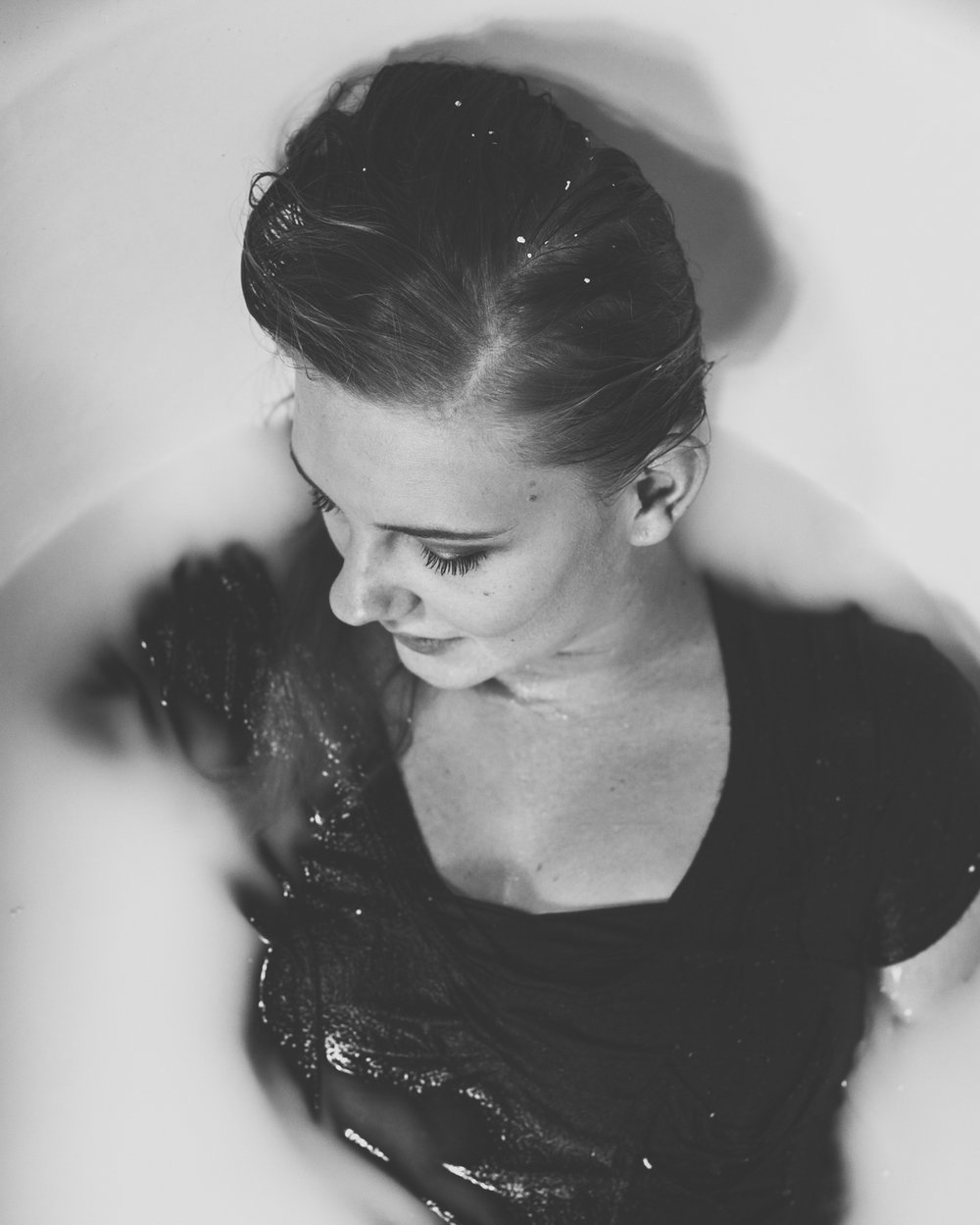 Milk bath- Creative portrait idea