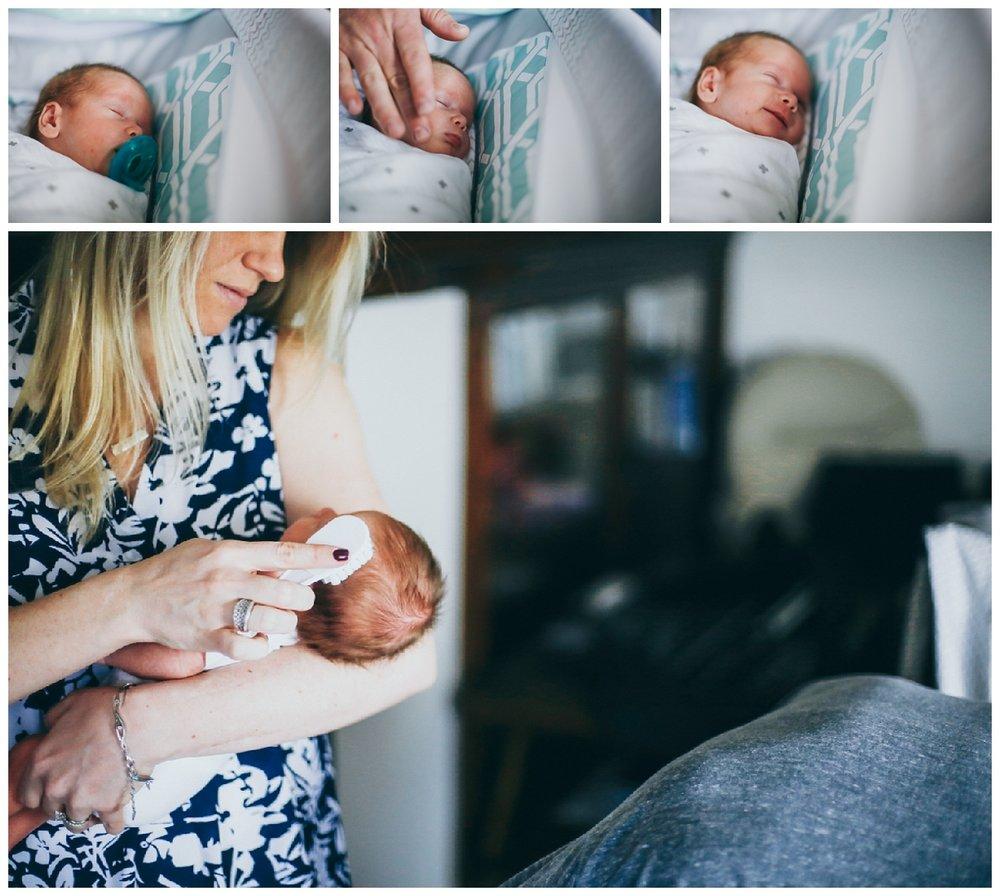 Close up newborn bassinet