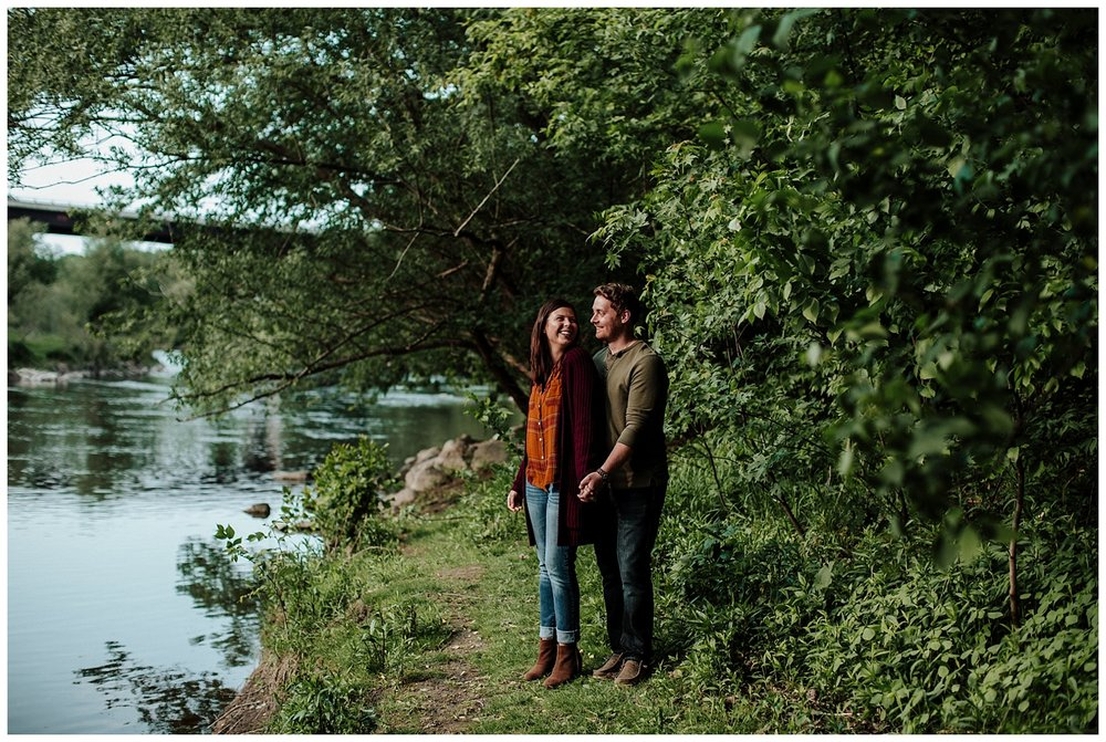 engagement photos by river