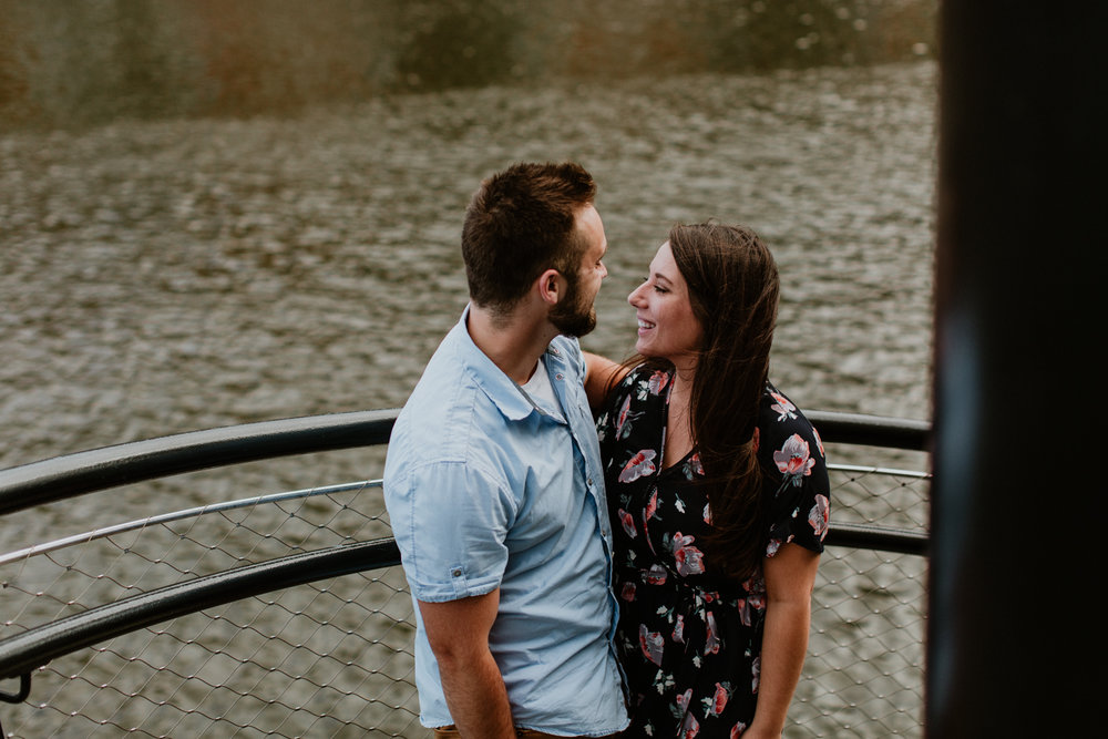Nick + Ally - Industrial Vibes  Milwaukee Engagement Session
