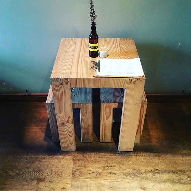 We have some new tables for all your food & computer based needs.