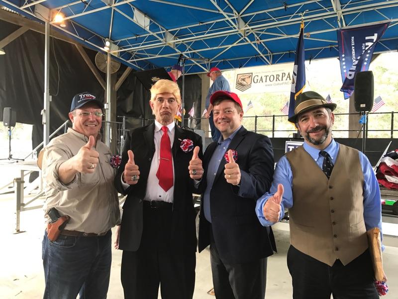 Rob Maness, Bobby Blaze Trump Impersonater, Jeff Crouere, Mike Church.jpg