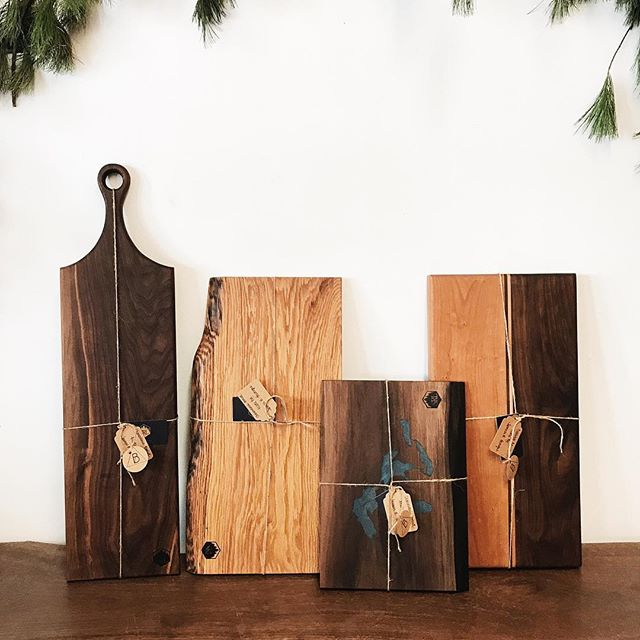 Supporting fellow young business owners is a top priority for me. That's why we have brought in some of @srl_woodworks beautiful charcuterie and chopping blocks. We only have a few in stock so come in before they are gone as they are the perfect gift! Our city is full with so many budding entrepreneurs it is amazing! OPEN tues-fri 12-7, sat 12-5 at the trading post! #thesoo #shoplocal #supportlocal