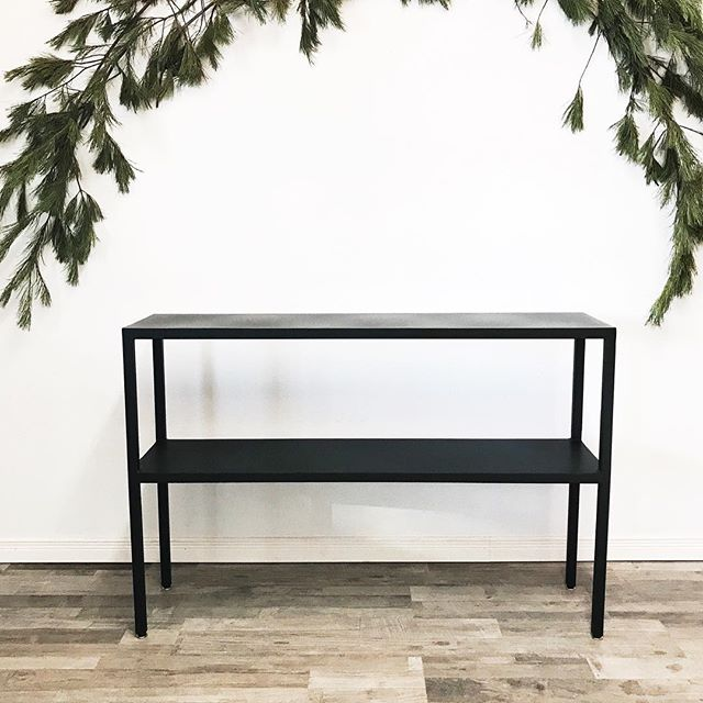 Custom full metal powder coated sofa table for a client! I love the simple + clean design of a full metal piece. Fits in with any decor or style! Made by @maxcosaw of course. #thesoo #shoplocal