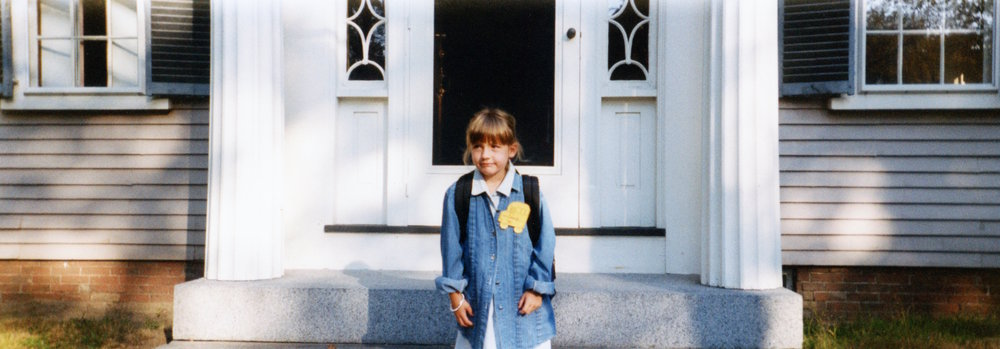 quenby in front of washington street first day of first grade 1995.jpg