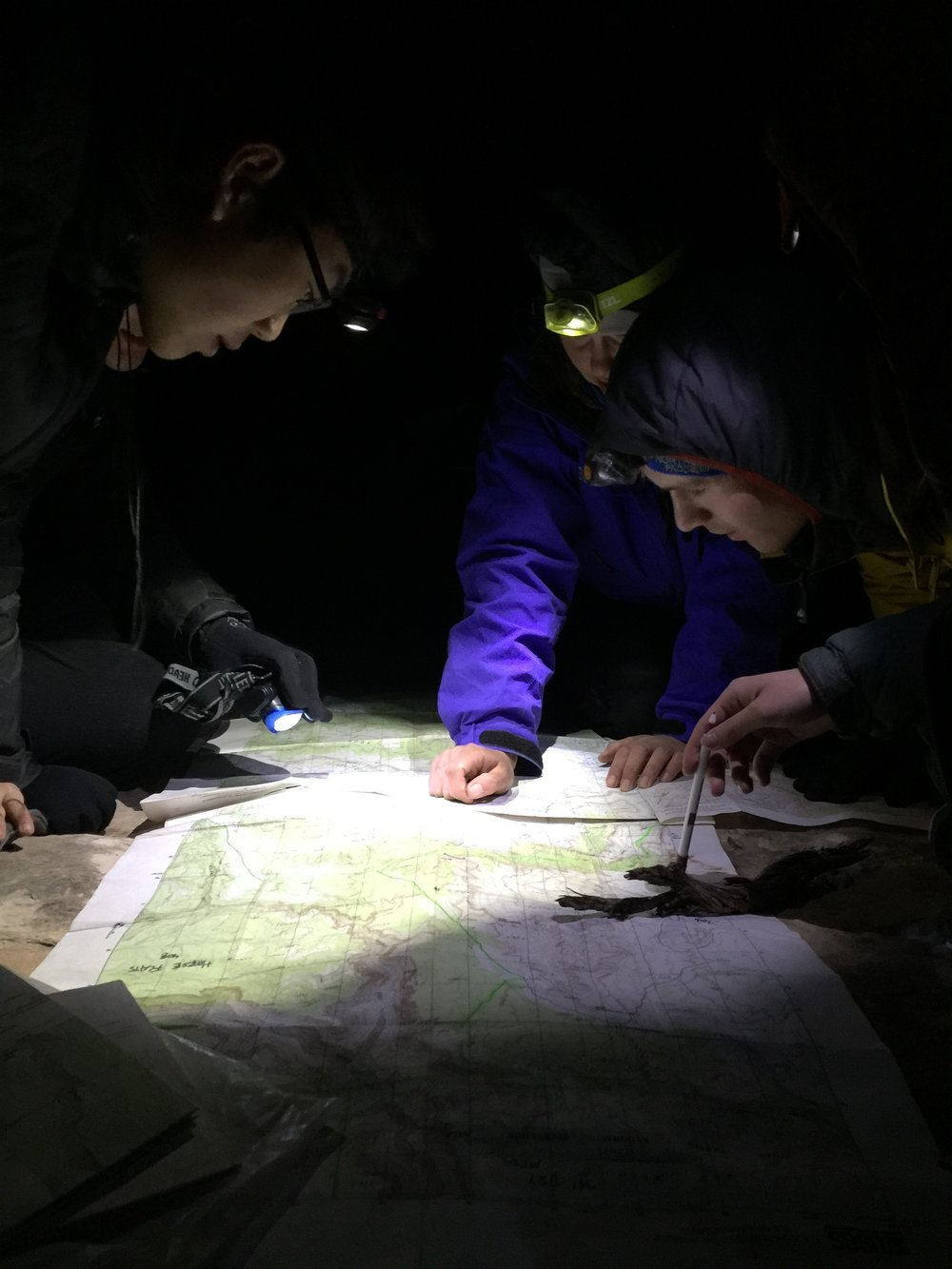 Topographic map reading is an important skill for wilderness trip leaders.