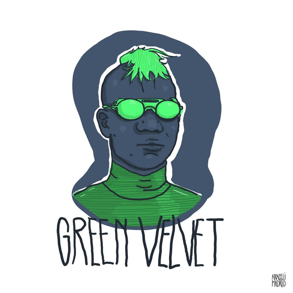 Green Velvet Djs ilustrados