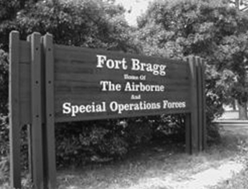"The U.S. Army base Fort Bragg holds the annual event ""Molly Pitcher Day,"" showcasing weapon systems, airborne operations, and field artillery for family members."