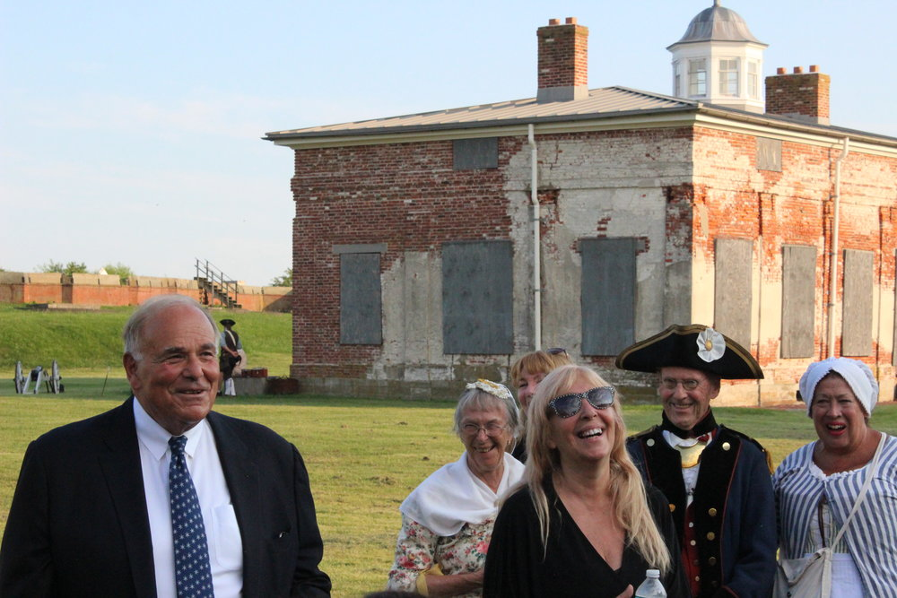 Former PA Gov. Ed Rendell says it's the resilience of the American Revolutionaries that won the war. It's the dreamers who make America a great nation, he said, calling Molly, written by Brigette ReDavid (standing next to Rendell) an important film about an American legend that needs to be made.