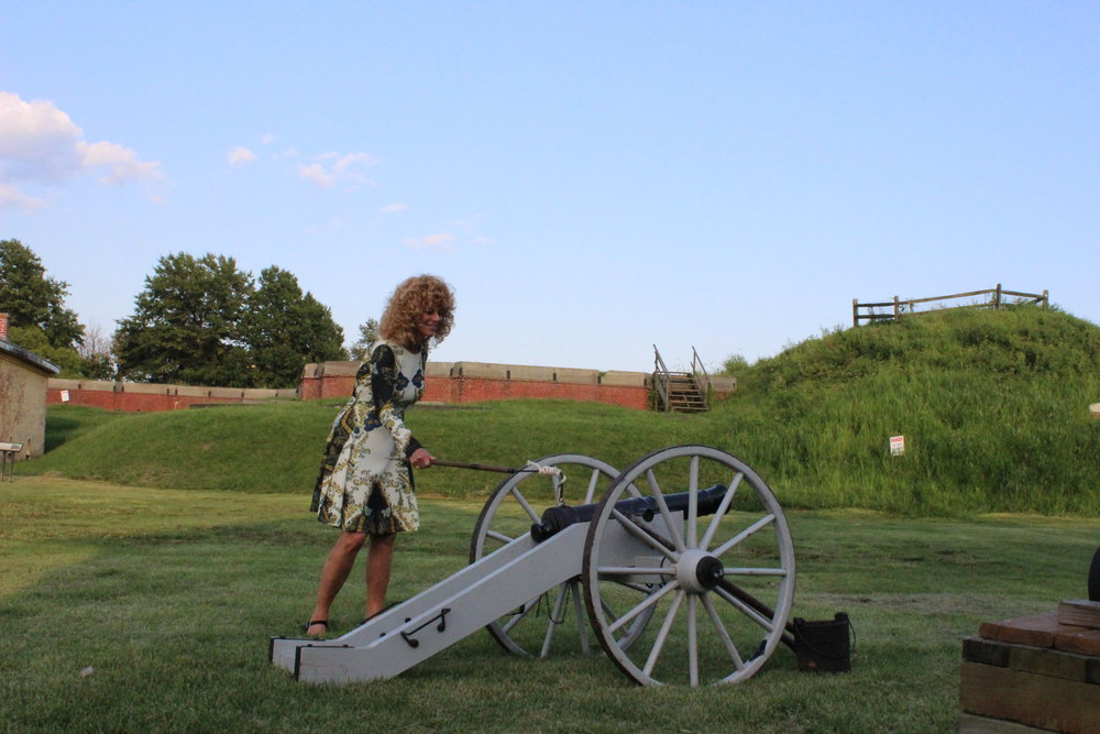 Greater Philadelphia Film Office Executive Director Sharon Pinkenson fired the first shot from the cannon.