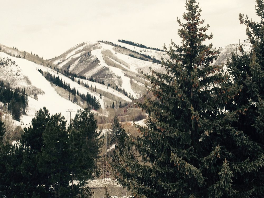 The view is inspiring from the ski lift at The Canyons in Park City.