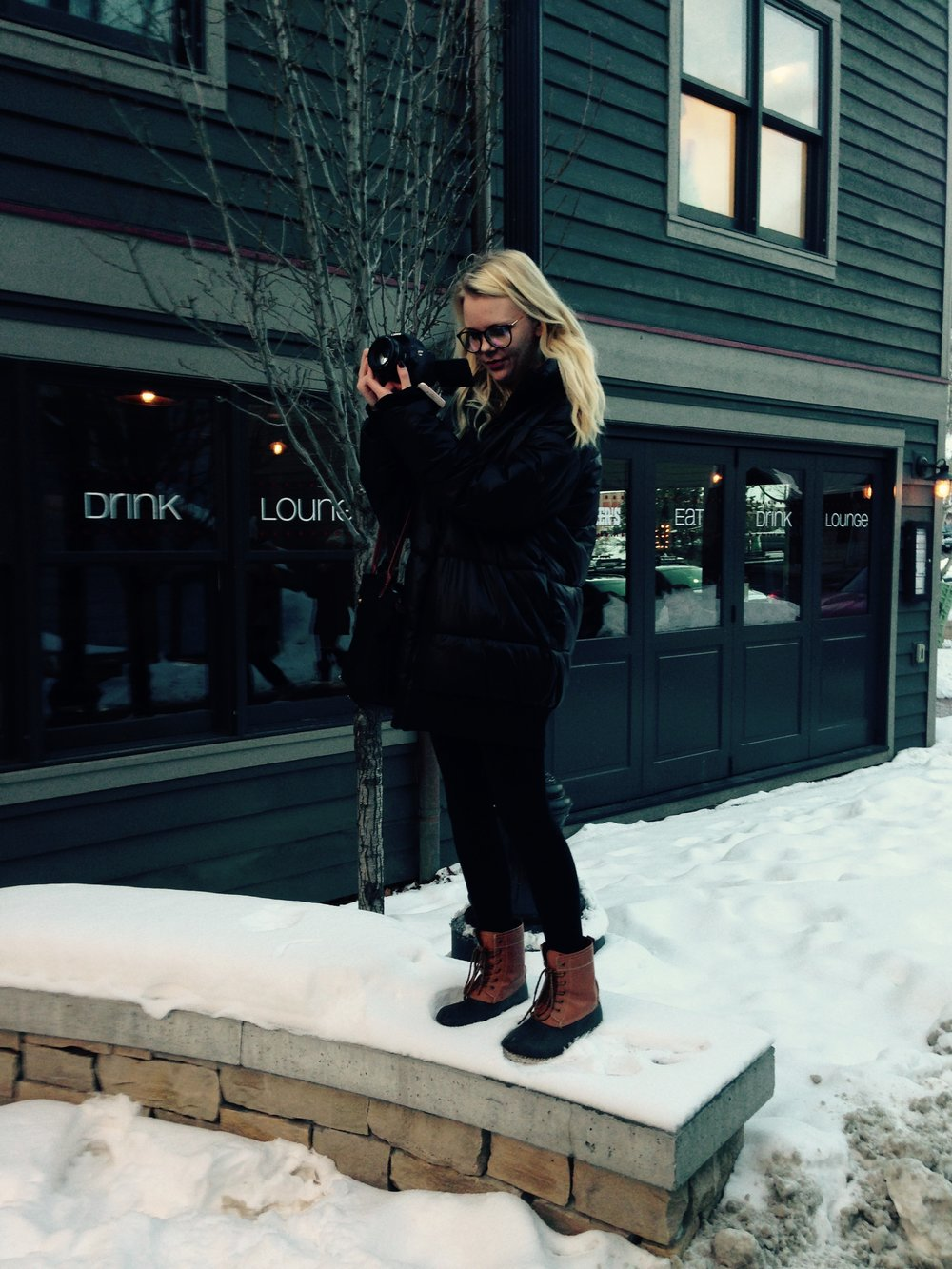 Ali Thompson captures the beauty of Park City's Main Street after a snowfall.