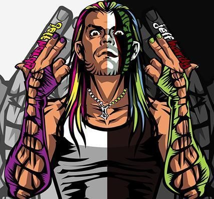 Tell me this Jeff Hardy graphic doesn't look like it could be artwork for a Lil Uzi project.